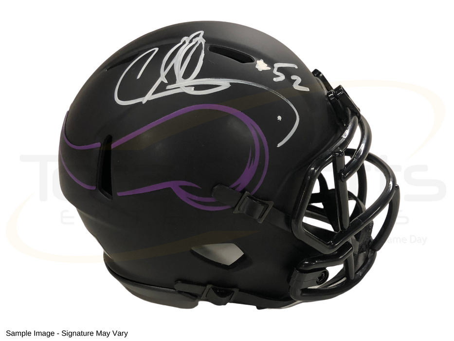 Chad Greenway Signed Minnesota Vikings Eclipse Mini Helmet