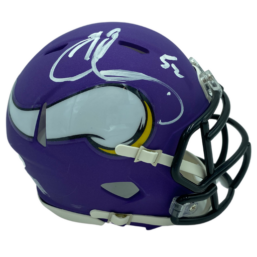 Chad Greenway Signed Minnesota Vikings Speed Mini Helmet