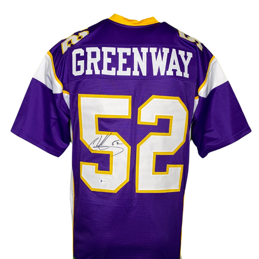 Chad Greenway Signed Custom Throwback Purple Football Jersey