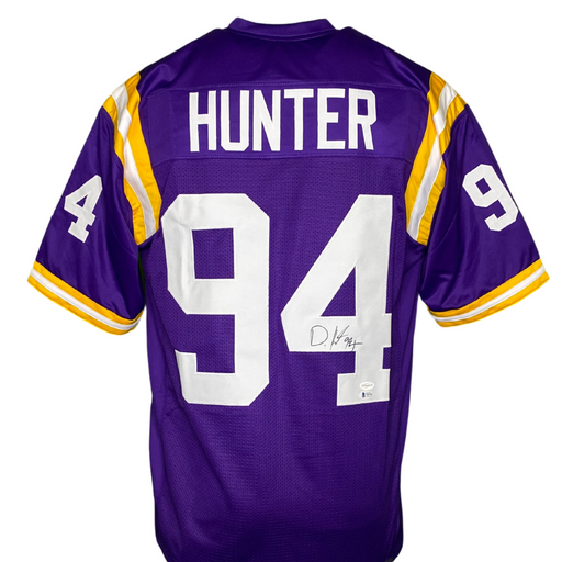 Danielle Hunter Signed Custom Purple College Football Jersey