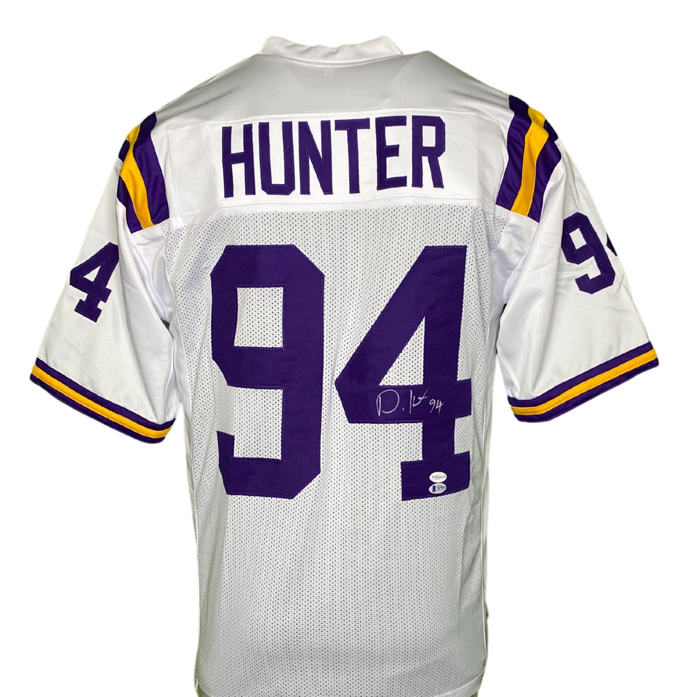 Danielle Hunter Signed Custom White College Football Jersey