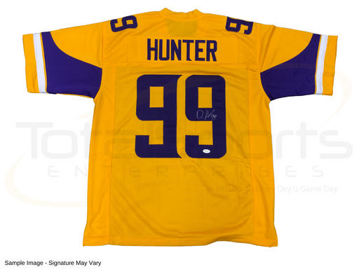 Danielle Hunter Signed Custom Inverted Yellow Football Jersey