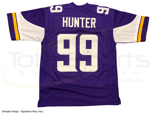 Danielle Hunter Signed Custom Purple Football Jersey