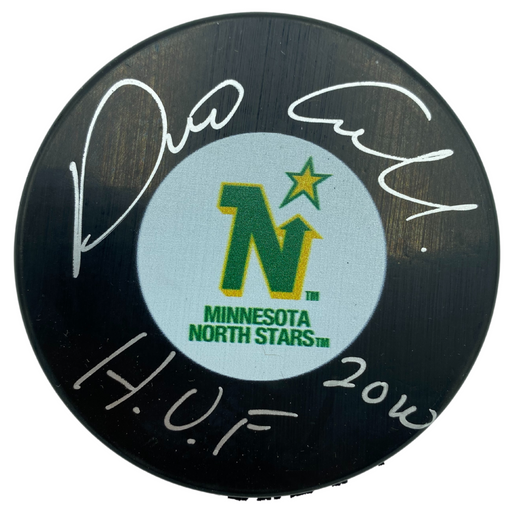 Dino Ciccarelli Signed Minnesota North Stars Puck