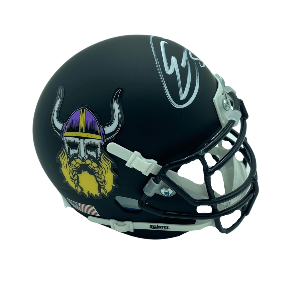 Eric Kendricks Signed Custom Beard Mini Helmet