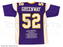 Chad Greenway Signed Custom Throwback Purple Football Stat Jersey