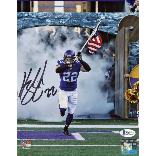 Harrison Smith Signed Vertical w/ Flag 8x10 Photo