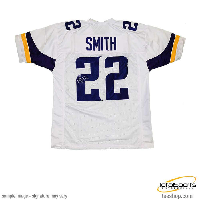 low priced 3e3d6 356cb Harrison Smith Signed Custom White Football Jersey