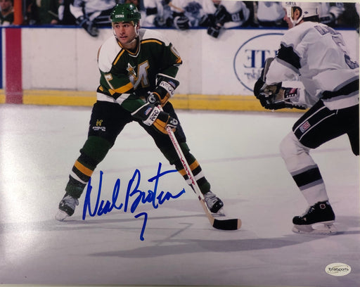 Neal Broten Signed Green Skating 11x14 Photo