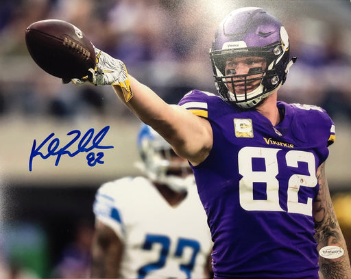 Kyle Rudolph Autographed Pointing Football 11x14 Photo