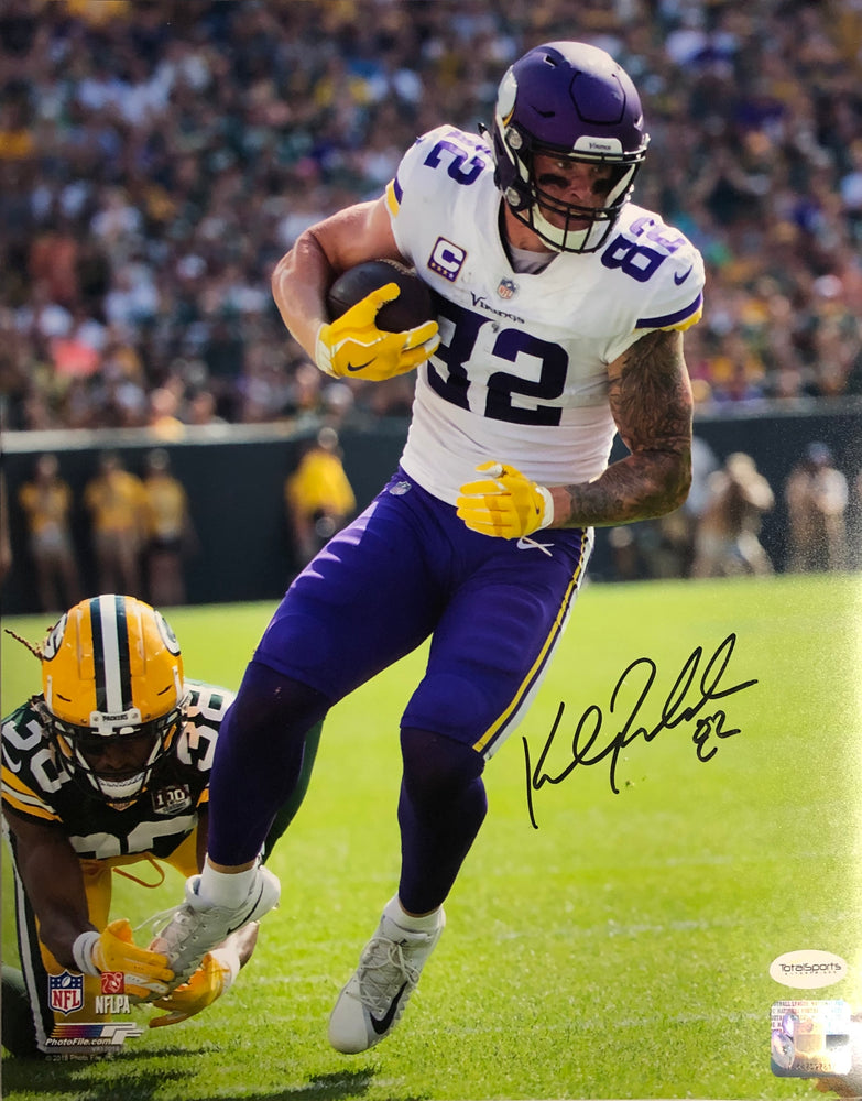 Kyle Rudolph Autographed Vertical in White 11x14 Photo