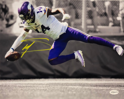 Stefon Diggs Autographed Diving Spotlight 11x14 Photo