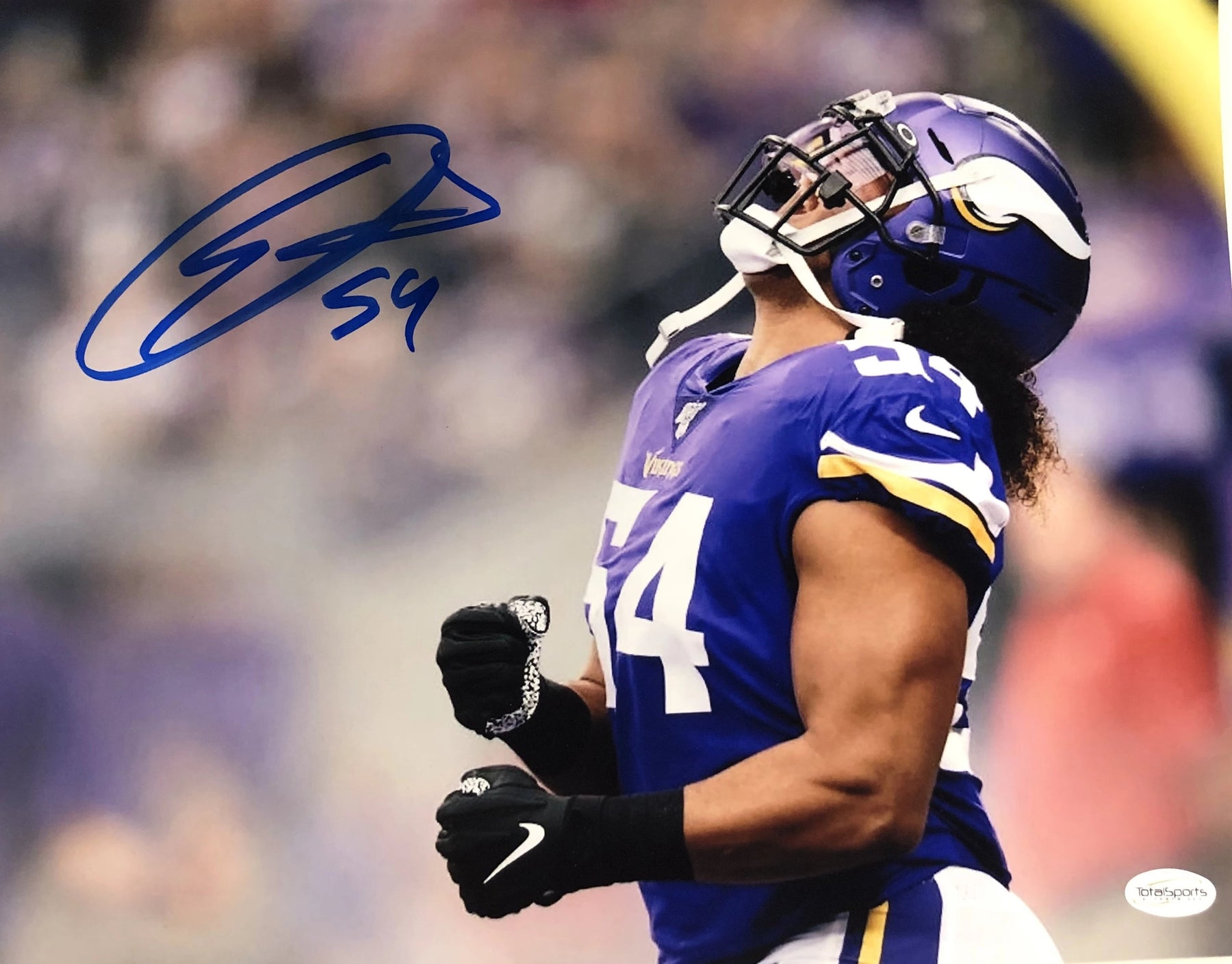 Eric Kendricks Signed Yelling 11x14 Photo