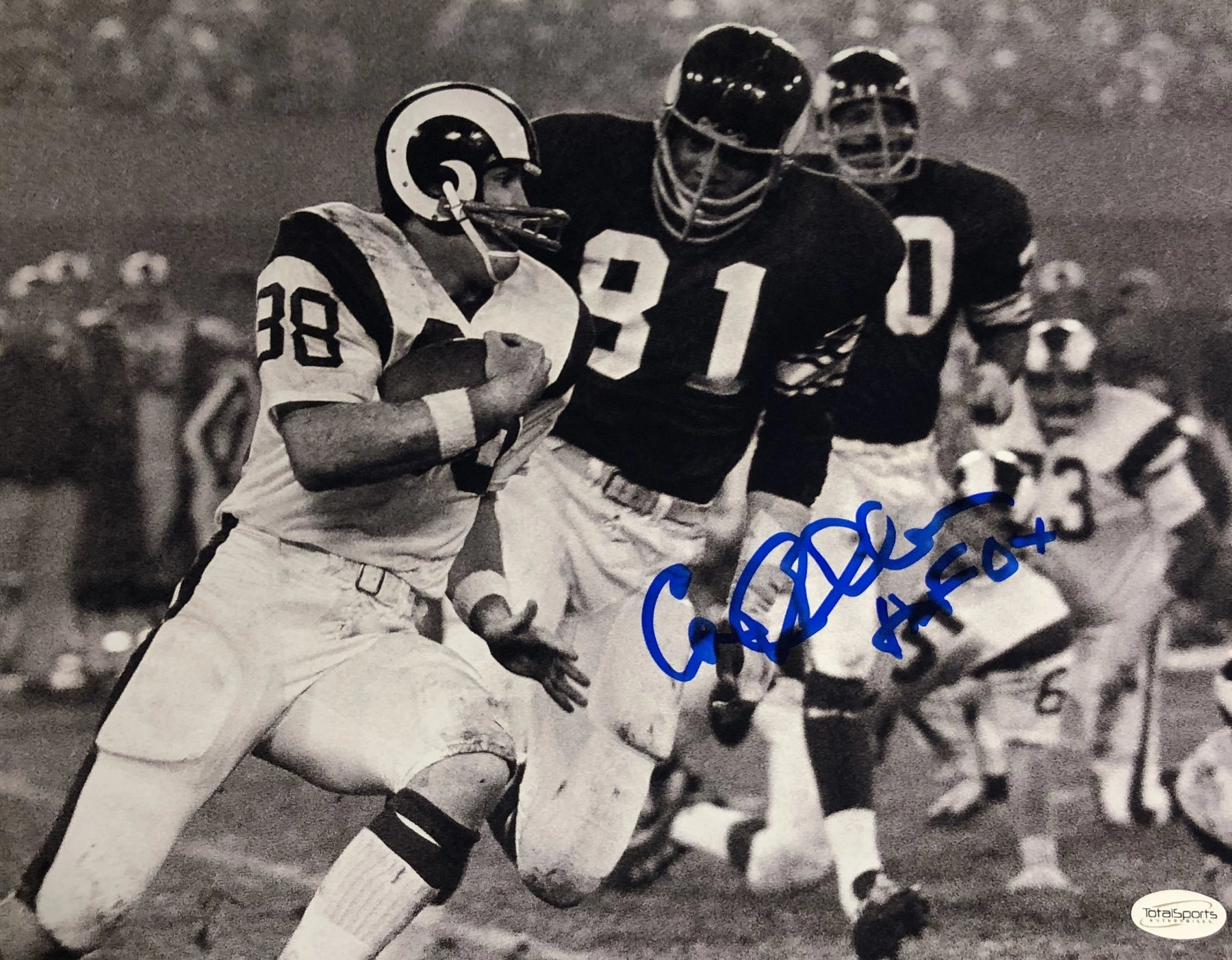 Carl Eller Autographed Black & White Pursuit 11x14 Photo