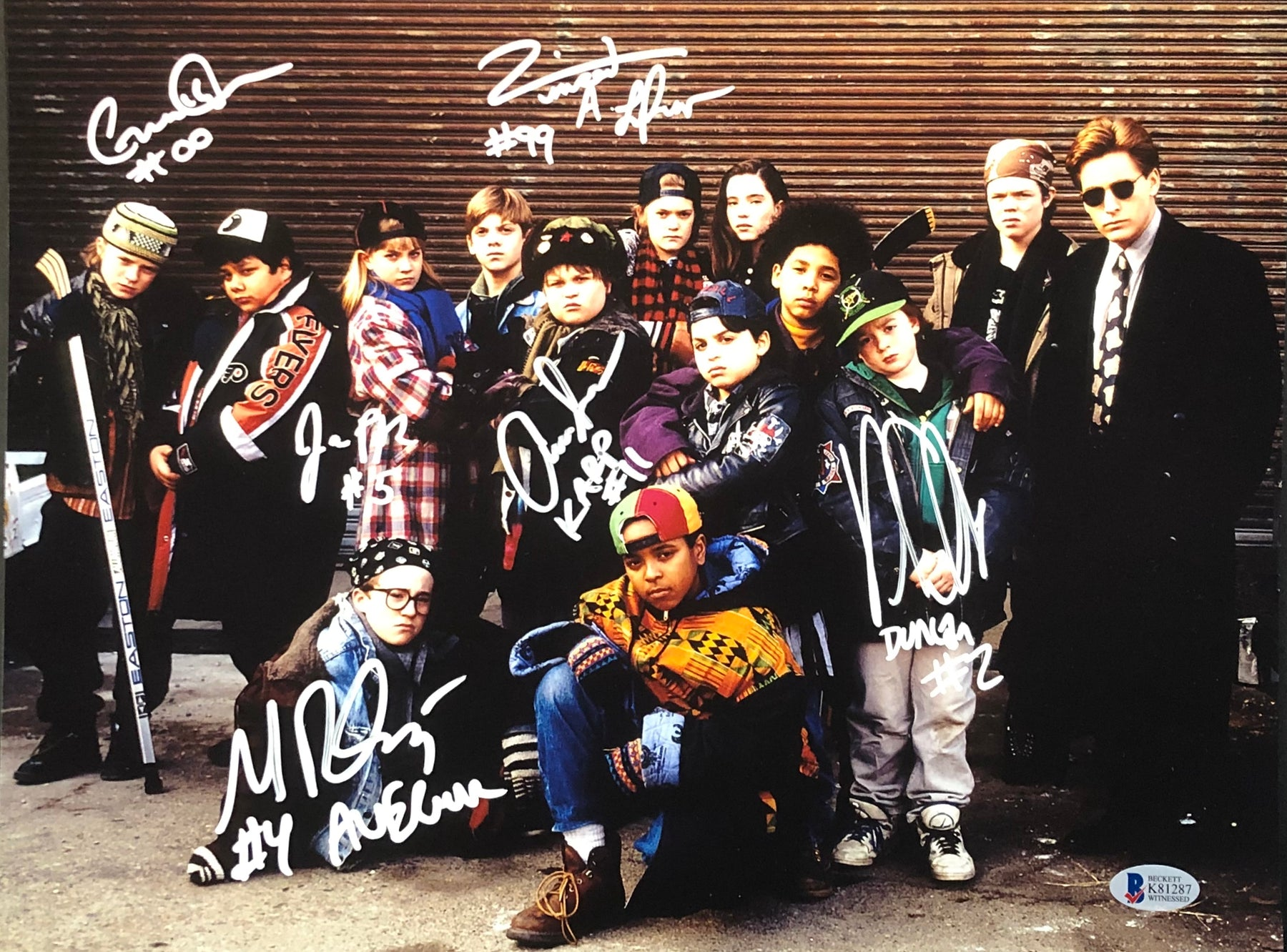 The Mighty Ducks Cast Autographed 11x14 Photo