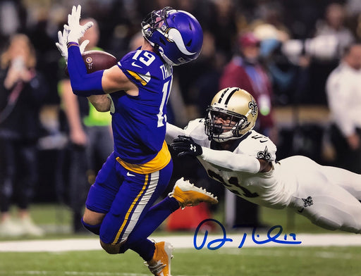 Adam Thielen Autographed Catch Vs Saints 11x14 Photo