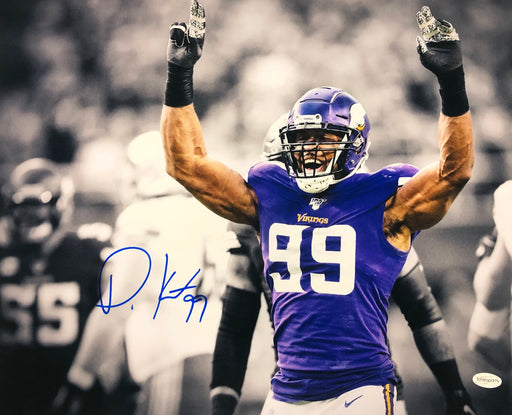 Danielle Hunter Autographed Hands In Air Spotlight 16x20 Photo