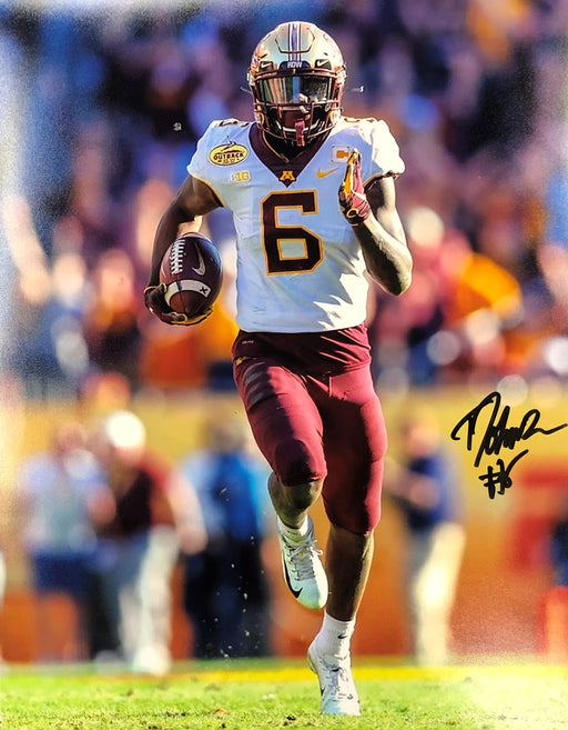 Tyler Johnson Signed Running in White 11x14 Photo