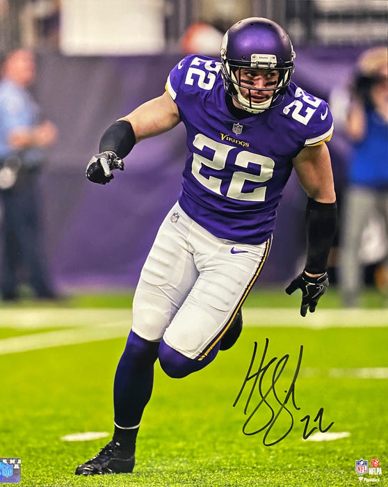 Harrison Smith Signed Vertical In Purple 16x20 Photo