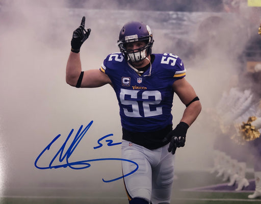 Chad Greenway Smoke Pointing Up Signed 11x14 Photo