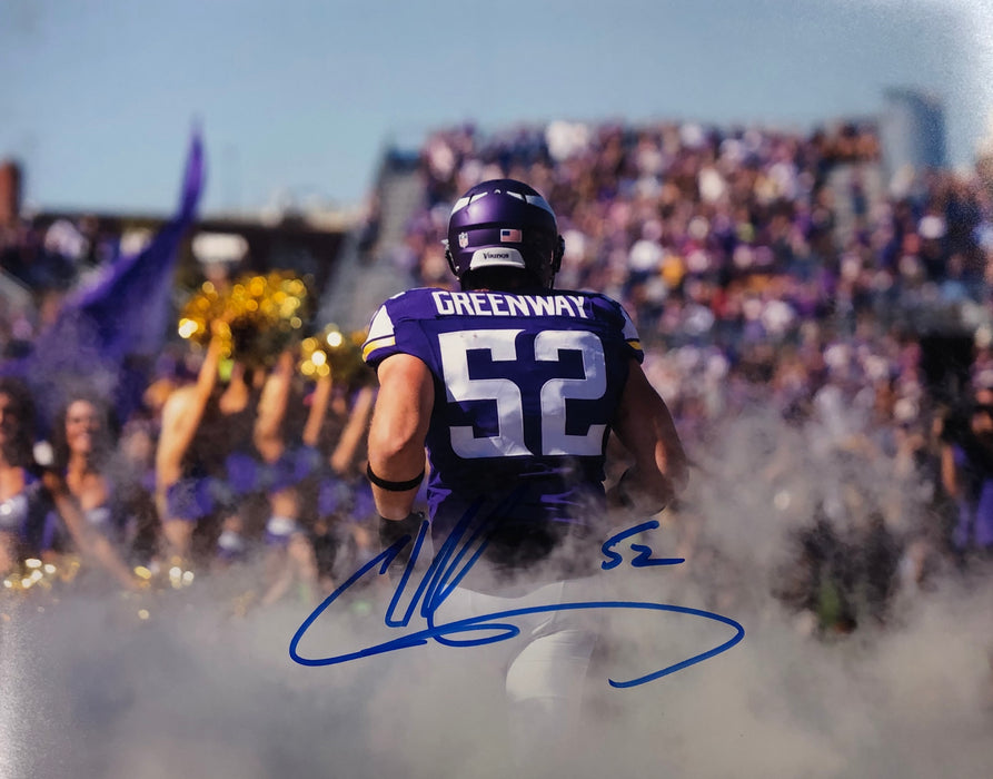 Chad Greenway Back Of Jersey Signed 11x14 Photo