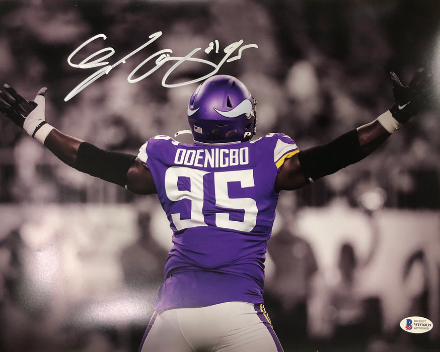 Ifeadi Odenigbo Signed Arms Up Spotlight 11x14 Photo