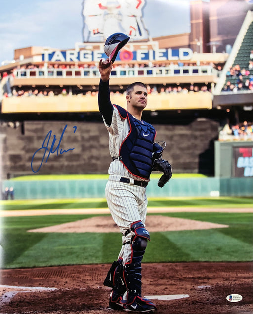 Joe Mauer Autographed Salute 16x20 Photo