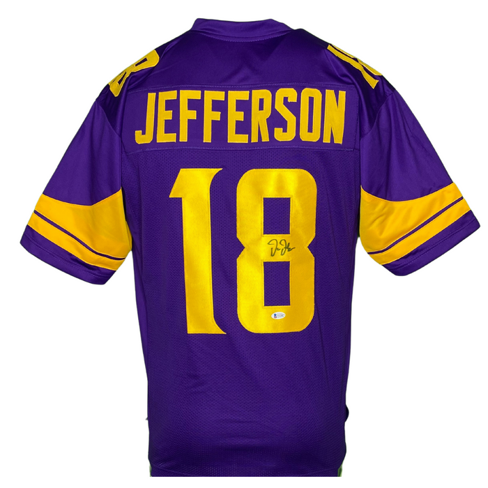 Justin Jefferson Signed Custom Holiday Football Jersey