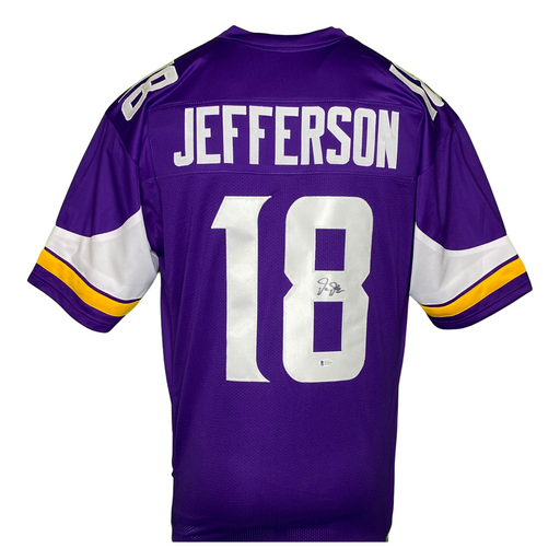 Justin Jefferson Signed Custom Purple Football Jersey
