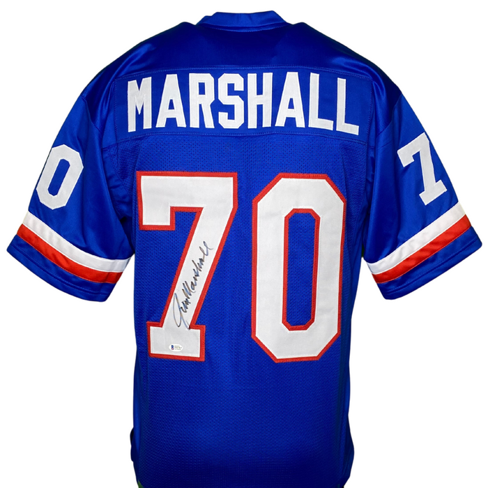 Jim Marshall Signed Custom Pro Bowl Football Jersey