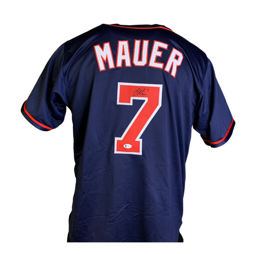 Joe Mauer Signed Custom Navy Blue Baseball Jersey