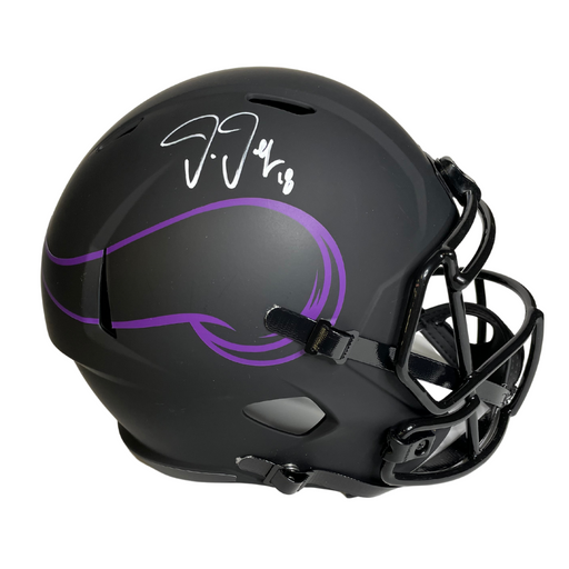 Justin Jefferson Signed Minnesota Vikings Eclipse Rep FS Helmet