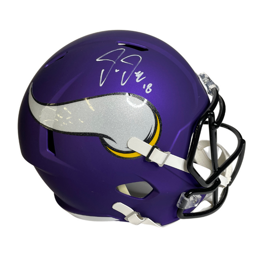 Justin Jefferson Signed Minnesota Vikings Purple Speed Rep FS Helmet