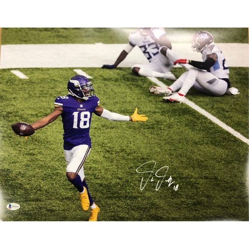 Justin Jefferson Signed TD Titans 16x20 Photo