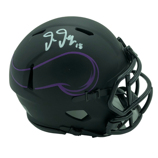 Justin Jefferson Signed Minnesota Vikings Eclipse Mini Helmet
