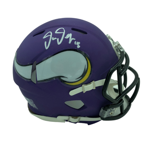 Justin Jefferson Signed Minnesota Vikings Speed Mini Helmet