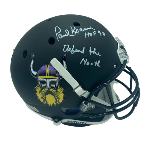 Paul Krause Autographed Beard FS Rep Helmet w/ Defend The North