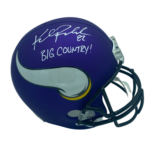 Kyle Rudolph Signed Minnesota Vikings Authentic FS Helmet with BIG COUNTRY