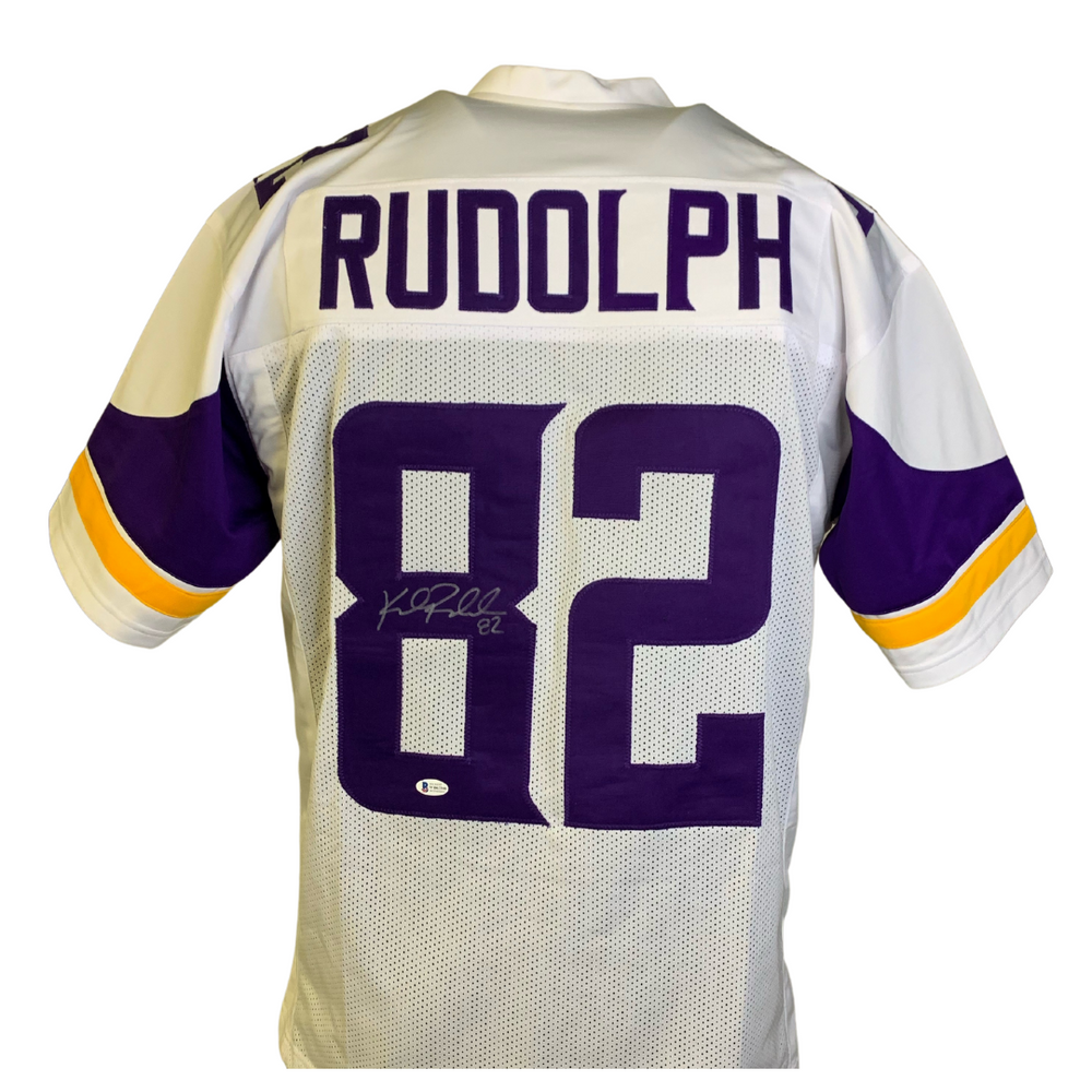 Kyle Rudolph Signed Custom White Football Jersey