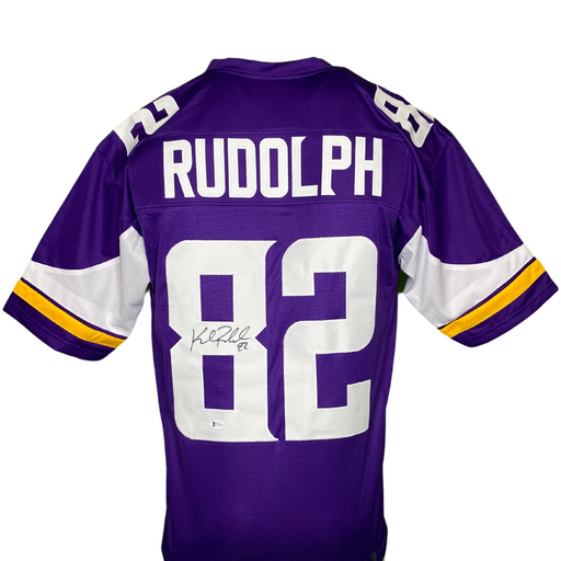 Kyle Rudolph Signed Custom Purple Football Jersey