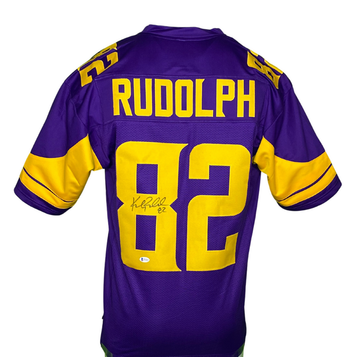 Kyle Rudolph Signed Custom Holiday Football Jersey