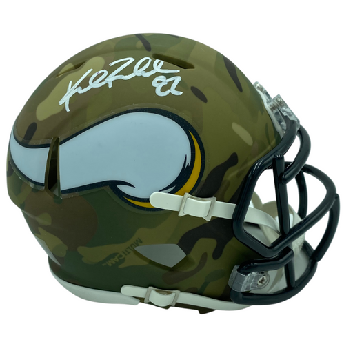 Kyle Rudolph Signed Minnesota Viking Camo Speed Mini Helmet
