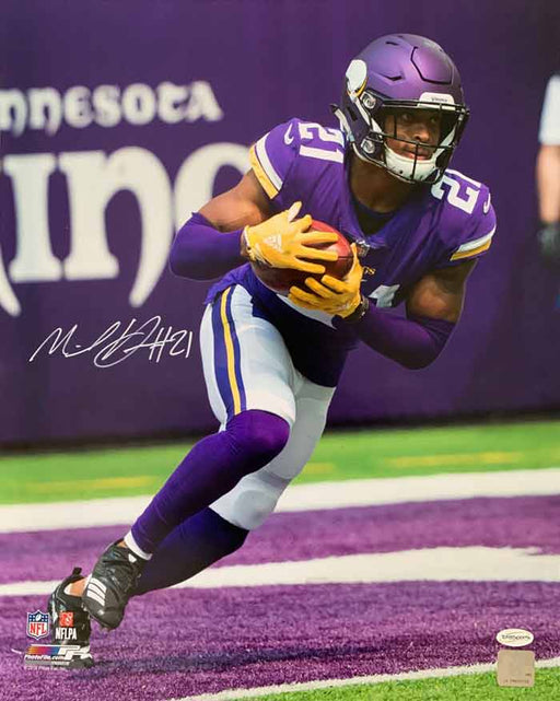 Mike Hughes Signed Running with Football 16 x 20 Photo