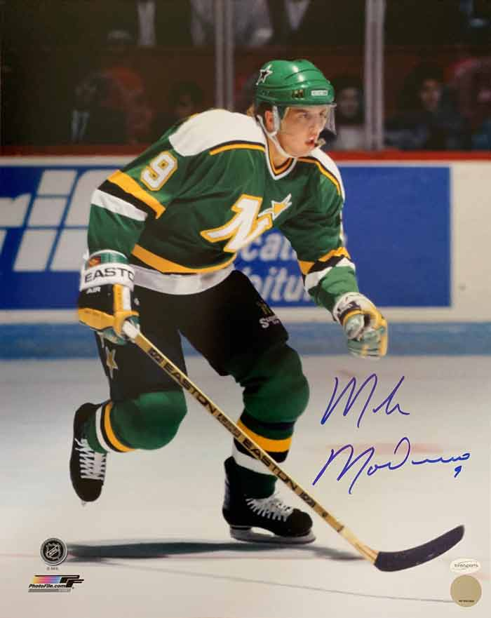 Mike Modano Signed Skating with Stick Vertical 16 x 20 Photo