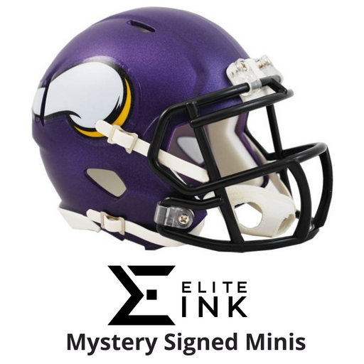 Vikings Signed Mini Helmet Mystery Box