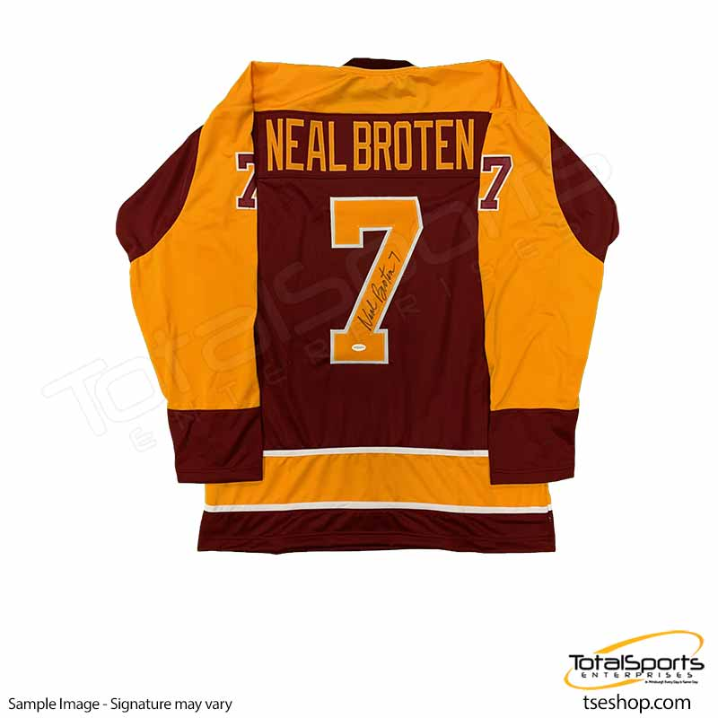 Neal Broten Signed Custom Red College Hockey Jersey