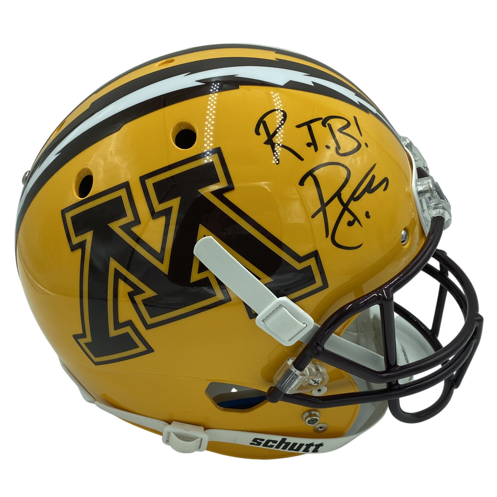 PJ Fleck Signed Yellow Full Size Gophers Helmet w/ RTB