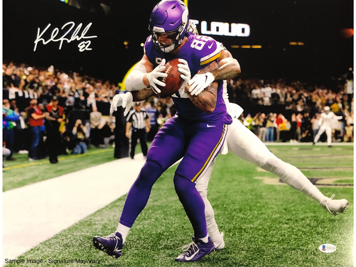 Kyle Rudolph Autographed Vs Saints 11x14 Photo