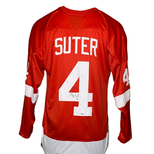 Ryan Suter Signed Custom College Wisconsin Hockey Jersey
