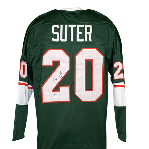 Ryan Suter Signed Custom Green Hockey Jersey